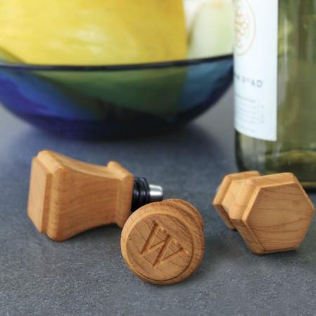 Wine Stoppers from Country Casual Teak // Price: $30 for set of 3, add $7 for monogram // Buy online or in store // www.countrycasualteak.com // (Image: Country Casual Teak)
