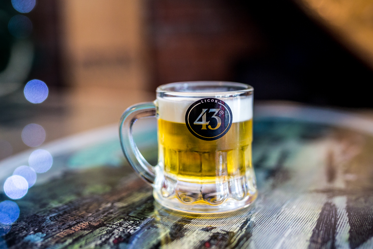 Little Beer: Liquor 43 topped with heavy cream / Image: Catherine Viox{ }// Published: 9.1.19