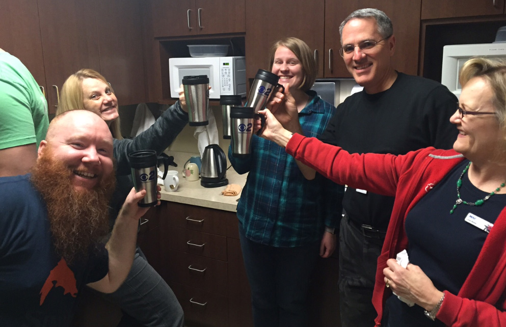 Mugshot Mondays: This week's winner is Mission Aviation Fellowship in Nampa! Kelsey Anderson helped deliver free Dutch Bros. Coffee and KBOI mugs! Want your business to be next? Enter HERE: http://bit.ly/1UoKo3X