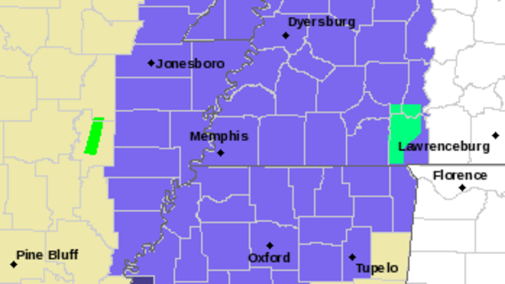 Winter Weather Advisory issued for counties in West Tennessee