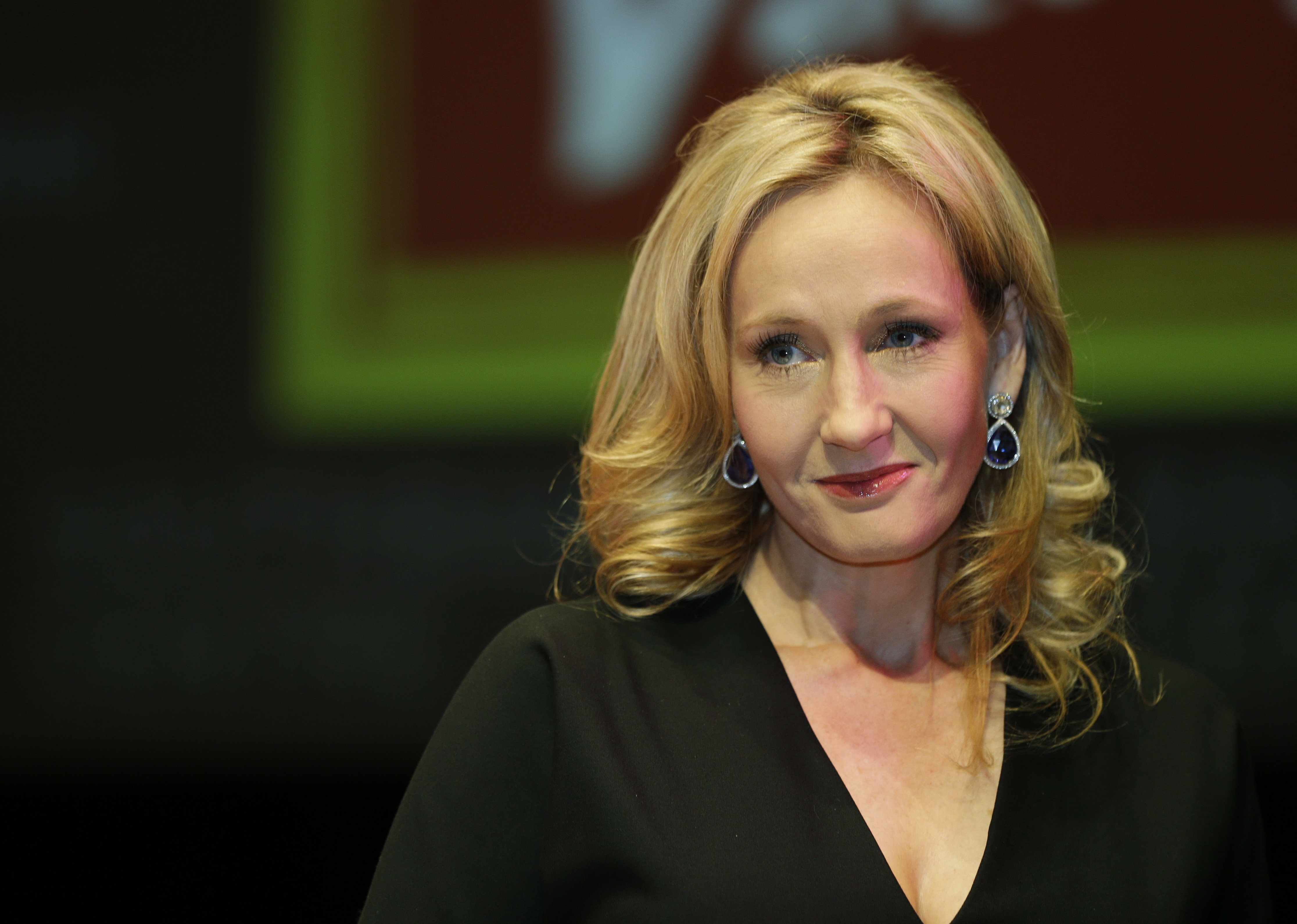 FILE - In this file photo dated Thursday, Sept. 27, 2012, British author J.K. Rowling poses for photographers during the unveiling of her new book, entitled: 'The Casual Vacancy', at the Southbank Centre in London. (AP Photo/Lefteris Pitarakis, FILE)