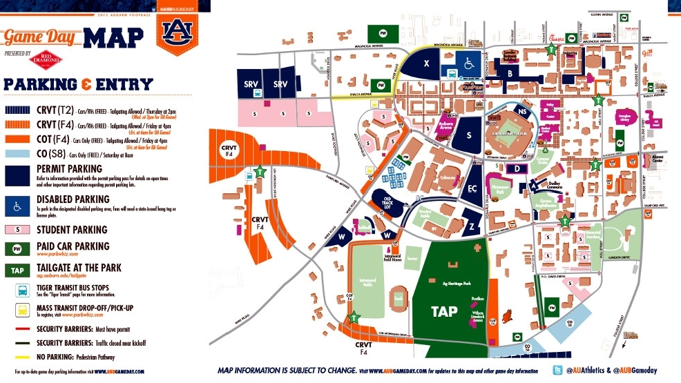 auburn adds 2 000 gameday parking and tailgate spaces for 2013