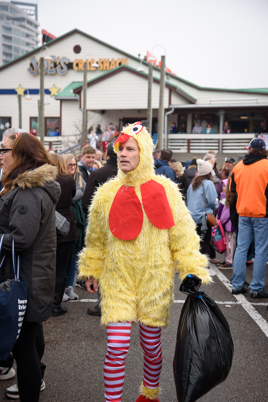 A member of the Freeze Cats, who dressed as chickens. / Image: Phil Armstrong // Published: 2.1.20