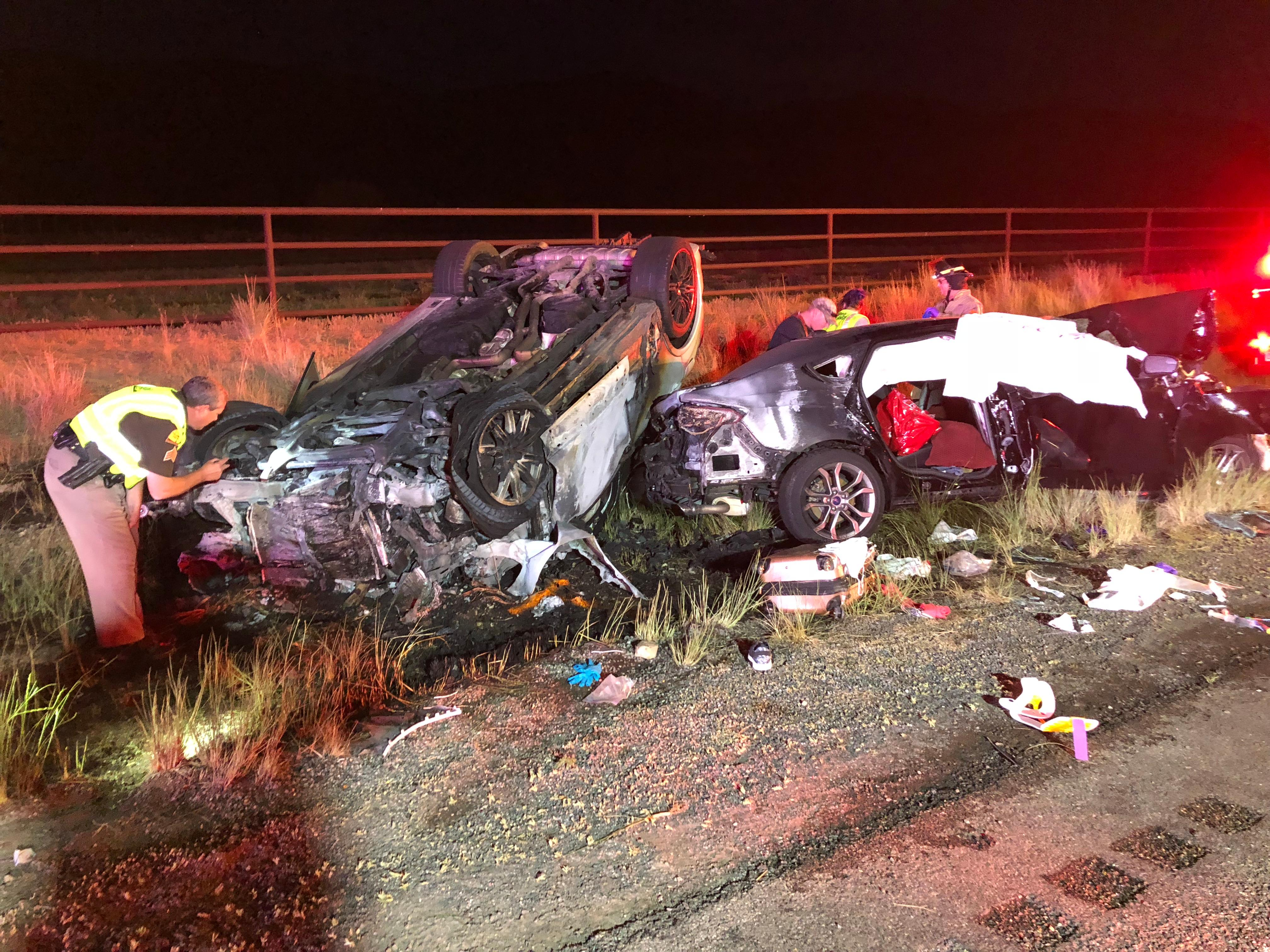 Deadly car crash in Millard County. (Photo courtesy of UDOT)