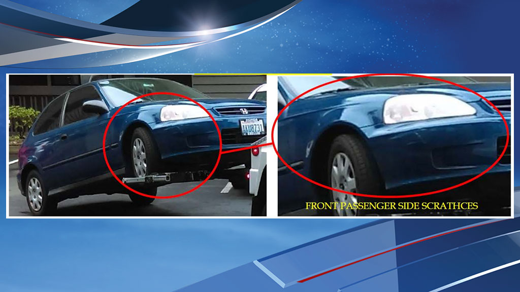 Police are asking for the public to help them locate this car used in a drive-by shooting of a 13-year-old boy in Des Moines. (Des Moines Police Dept. photo)