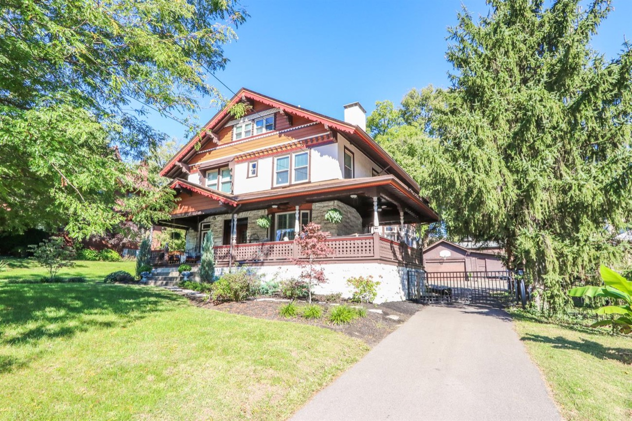 You won't find many renovated homes around town with this unique, Swiss Chalet-style architecture. This one in North Avondale was built in 1901 and somehow perfectly blends its original style with updated, contemporary features. New appliances, a wraparound porch, a 12-foot long kitchen island, and a wood-paneled grand staircase made of rare tiger oak wood are just a few of the elements that make this home so wonderful. It is currently on the market for $650,000. ADDRESS: 970 Lenox Place (45229) / Image courtesy of Sibcy Cline // Published: 11.4.18