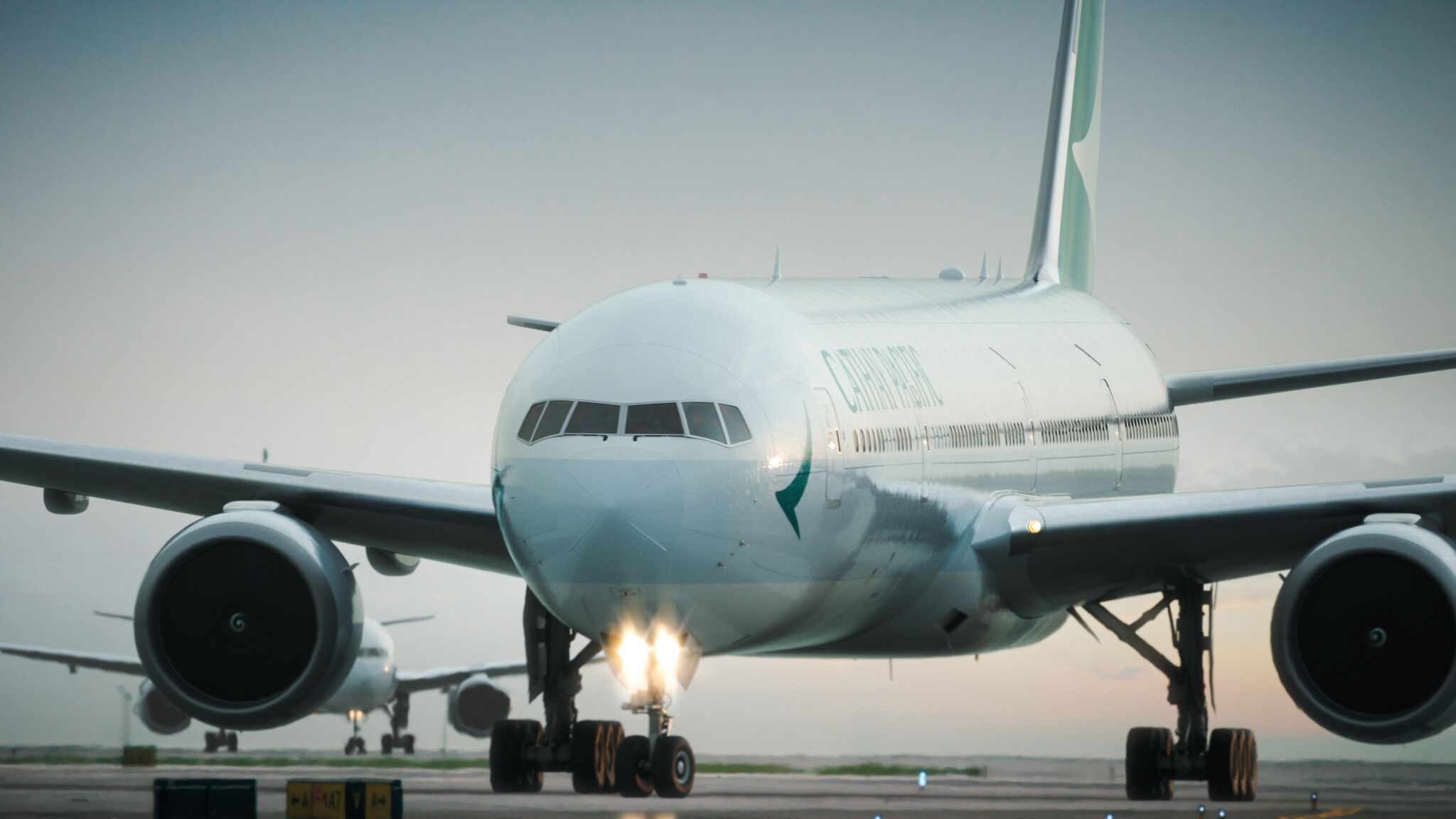 The Airbus A350-900 is also designed with added leg room, pressurized cabin comfort and LED lighting to fight the effects of jet lag.{&amp;nbsp;}(Image: Courtesy Cathay Pacific)<p></p>