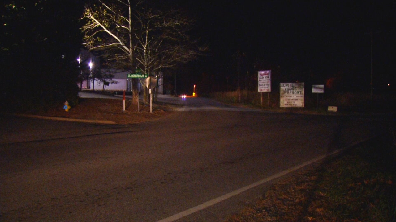 We're still waiting on details after a body was found on a piece of property off Old Sunset Hill Road Thursday night. (Photo credit: WLOS Staff)