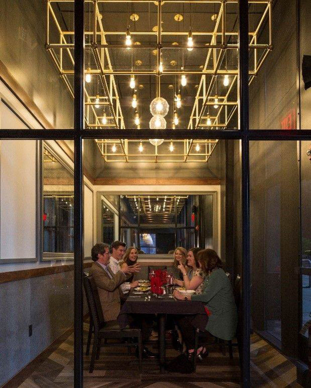 FIRE's private dining is available through reservation.{ }/ Image courtesy of RiverCenter Entertainment // Published: 6.20.19