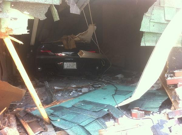 Car into building in Birmingham 7-5-12