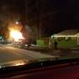 Truck goes up in flames on Sweeten Creek Road