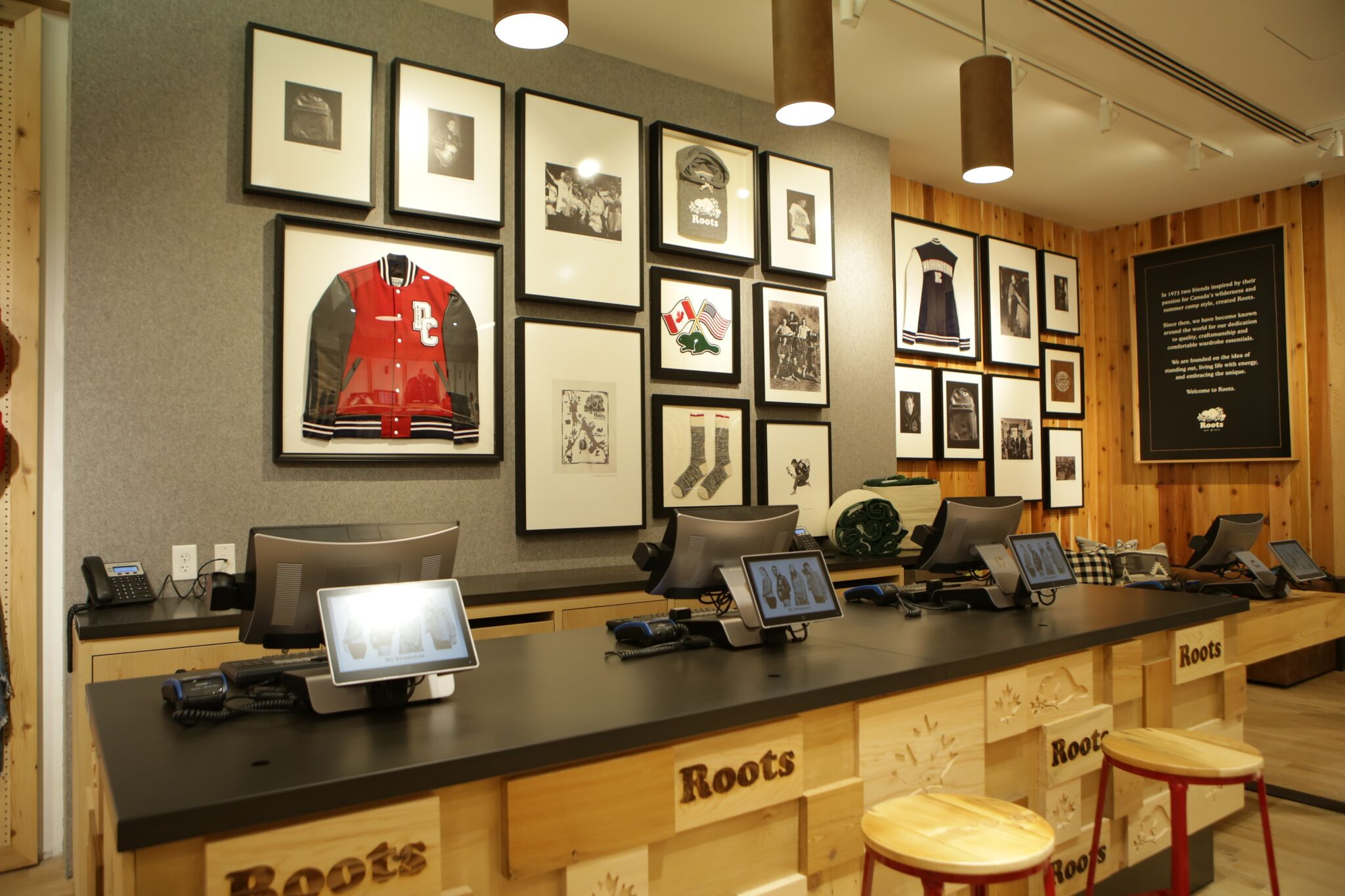 Roots is a brand long-loved by Canadians, including Drake. With the opening of a store in Georgetown and Pentagon City Mall, the brand is hoping to conquer the United States, too.{ }(Image: Courtesy Roots)