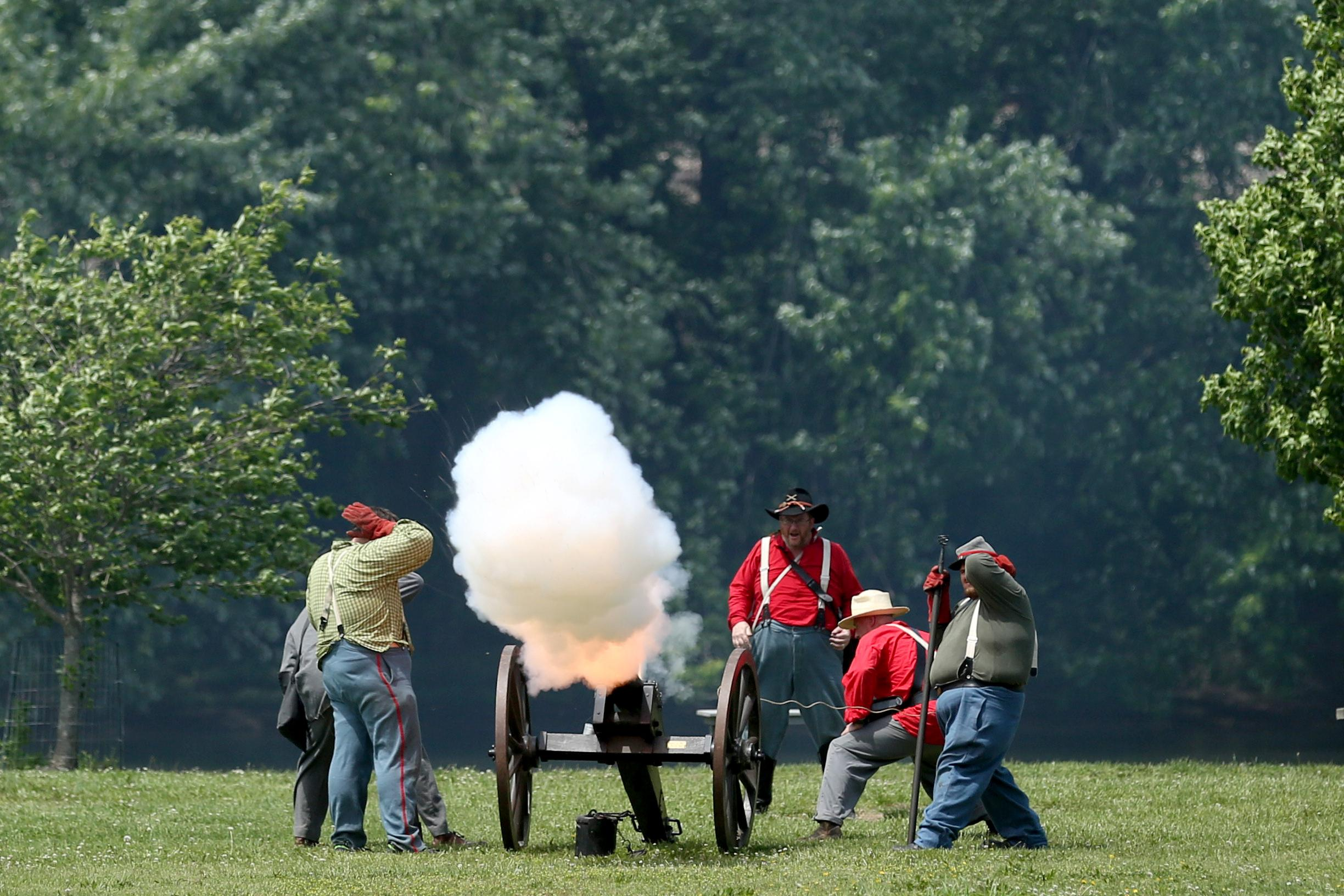 History enthusiasts flocked to Buchanan, Virginia, last weekend for their annual Civil War reenactment. The festivities spanned over three days, but Sunday, April 29 culminated in a battle at the town's park. Events like this will be happening around the region in the coming months - so keep your eyes peeled! (Amanda Andrade-Rhoades/DC Refined)