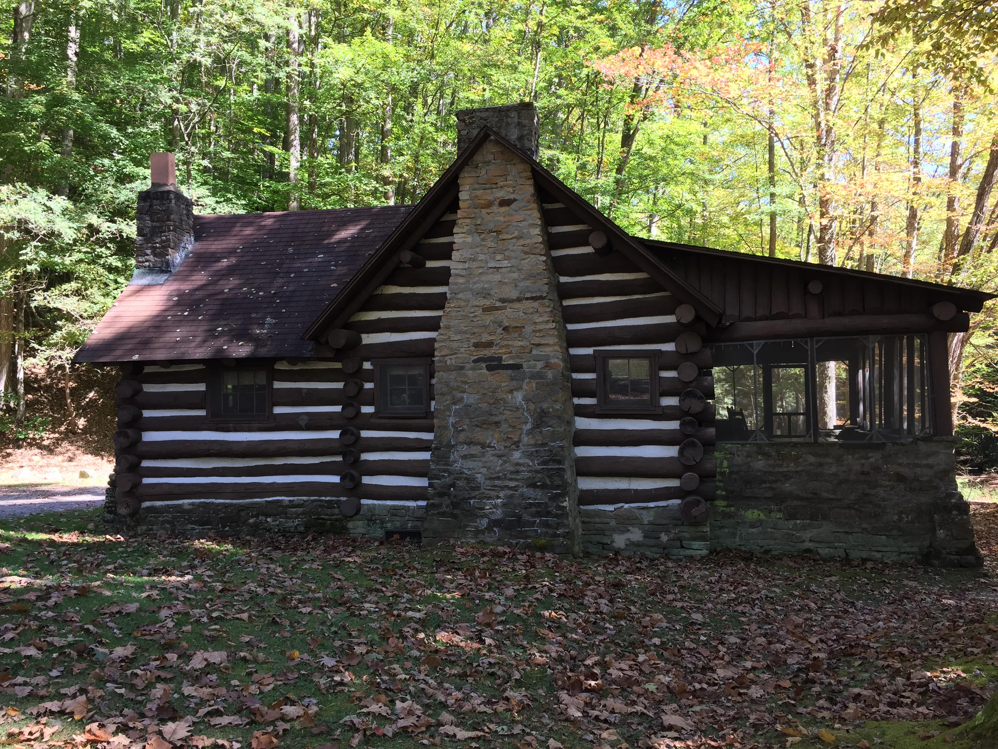 The pioneer cabins were constructed using materials gathered from the surrounding forest. (WCHS/WVAH)<p></p>