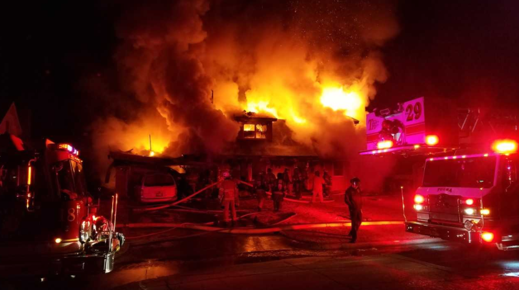 Crews responded around 11:30 p.m. to the fire near 56th and Utica. Firefighters got there within 30 to 45 seconds of receiving the call because they were already close by, but there was already smoke and flames coming out of the home. (KTUL)