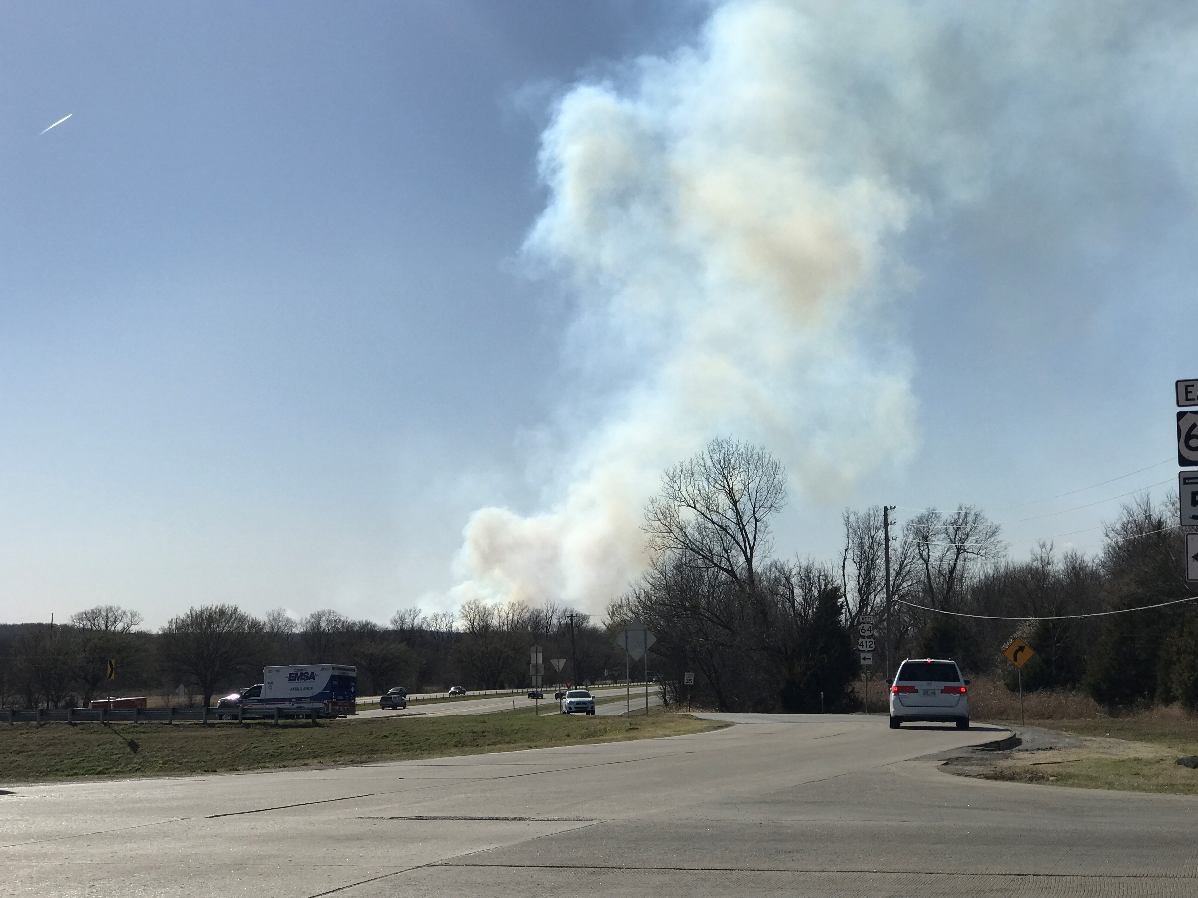 Sand Springs firefighters are battling multiple grass fires near 177th W. Ave. and Wekiwa Rd. Highway 97T is closed at W. 4th St. (KTUL)<p></p>