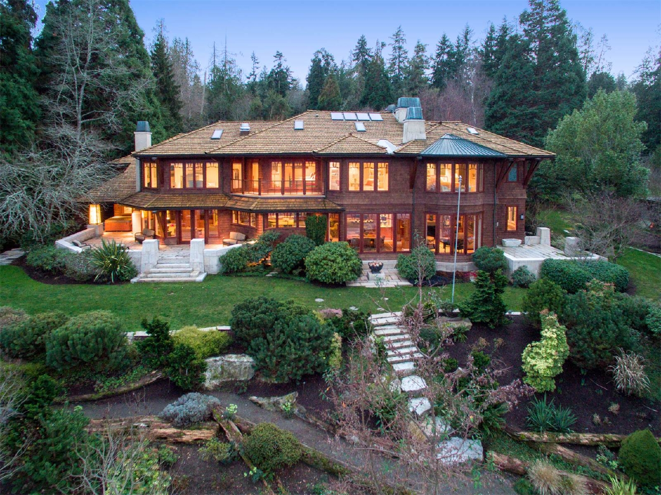 The most expensive home for sale on Bainbridge Island on Zillow is this 6 beds, 7 baths home selling for $5,888,888 along Blakely Harbor. It's 7,266 square feet (Image courtesy of Kristi Nelson).
