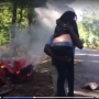 VIDEO | News crew saves pregnant woman from burning car