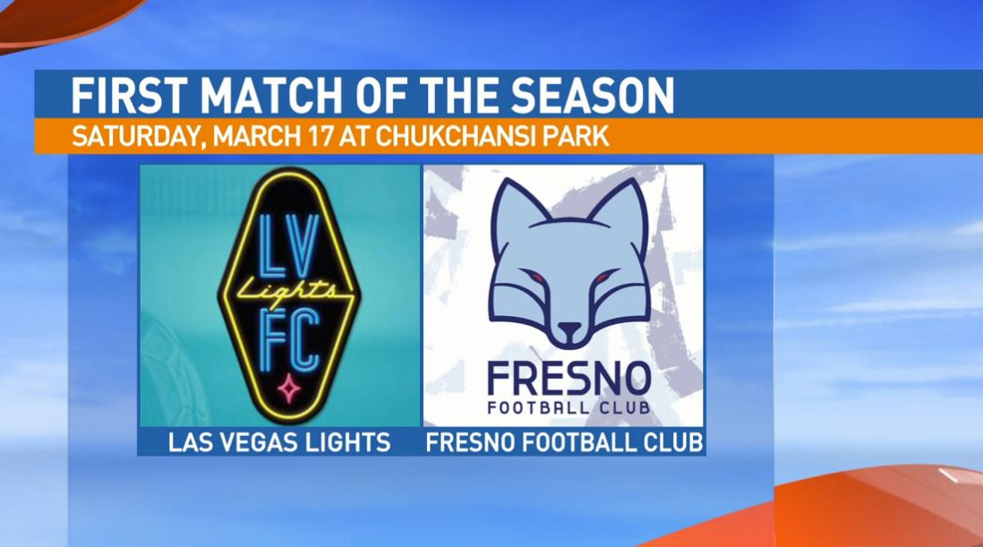 Fresno Football Club plays its first match against Las Vegas Lights on Saturday, March 17th at Chukchansi Park