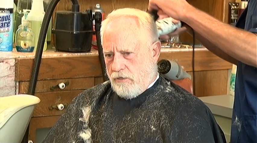 """I've been coming in here off and on for over 55 years, and we used to ride our horses in here as kids,"" Rod Crawford said in the middle of a haircut. ""We would tie our horses up and come in and get our hair cut."" (KTVL)"