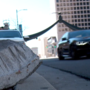 Car crashes into Eagle Gate Monument in Salt Lake City