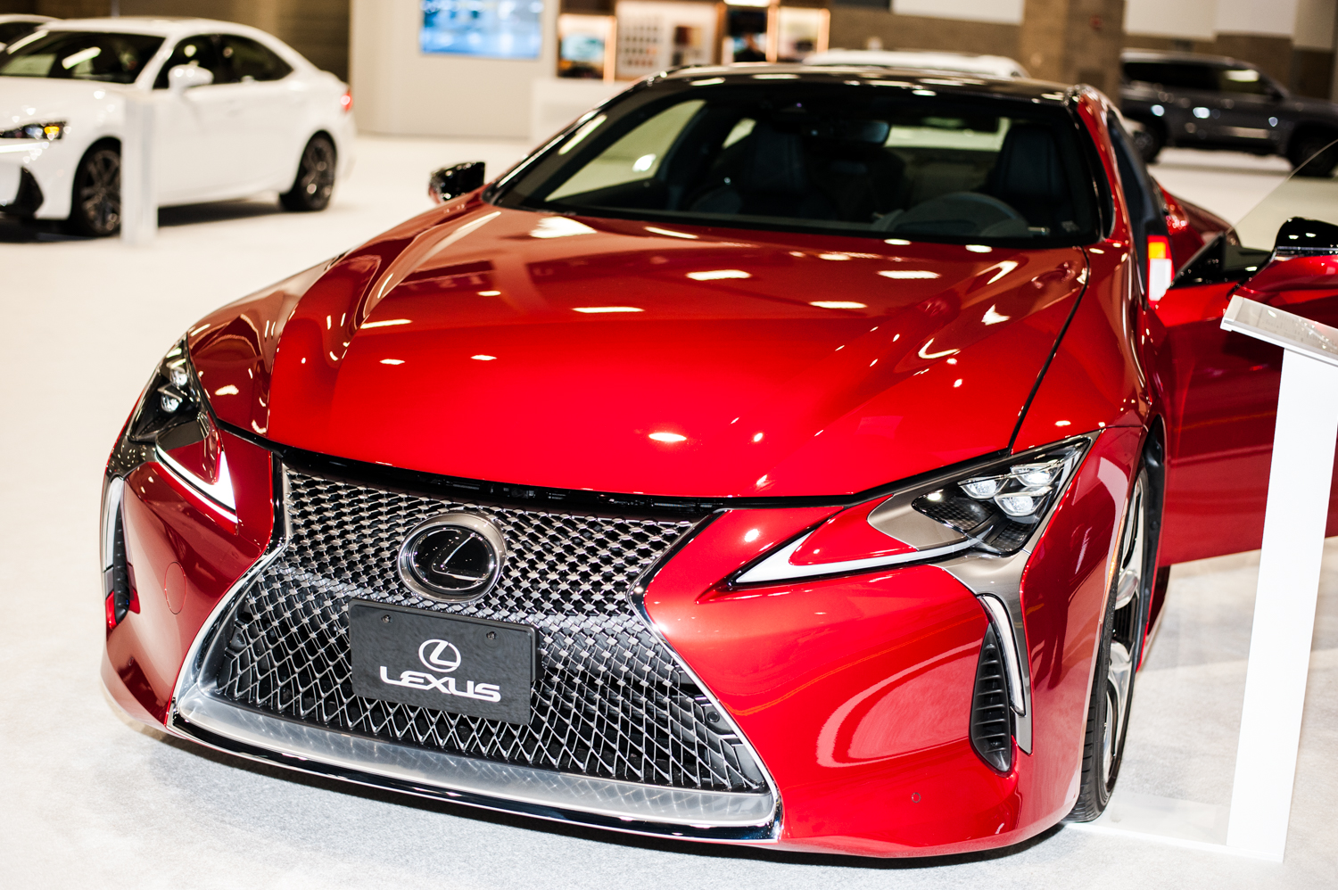 Lexus LC 500 - $92,000+. The Seattle International Auto Show{ }showcases all that's new in cars, trucks, exotics, super cars, electrics and all the latest models from the world's automobile makers. We scoured the place for the most expensive vehicles we could find - and aye caramba - some of these are literally the cars of our dreams. The Auto Show runs Nov. 9-12, 2018 at CenturyLink Field Event Center. (Image: Elizabeth Crook / Seattle Refined)