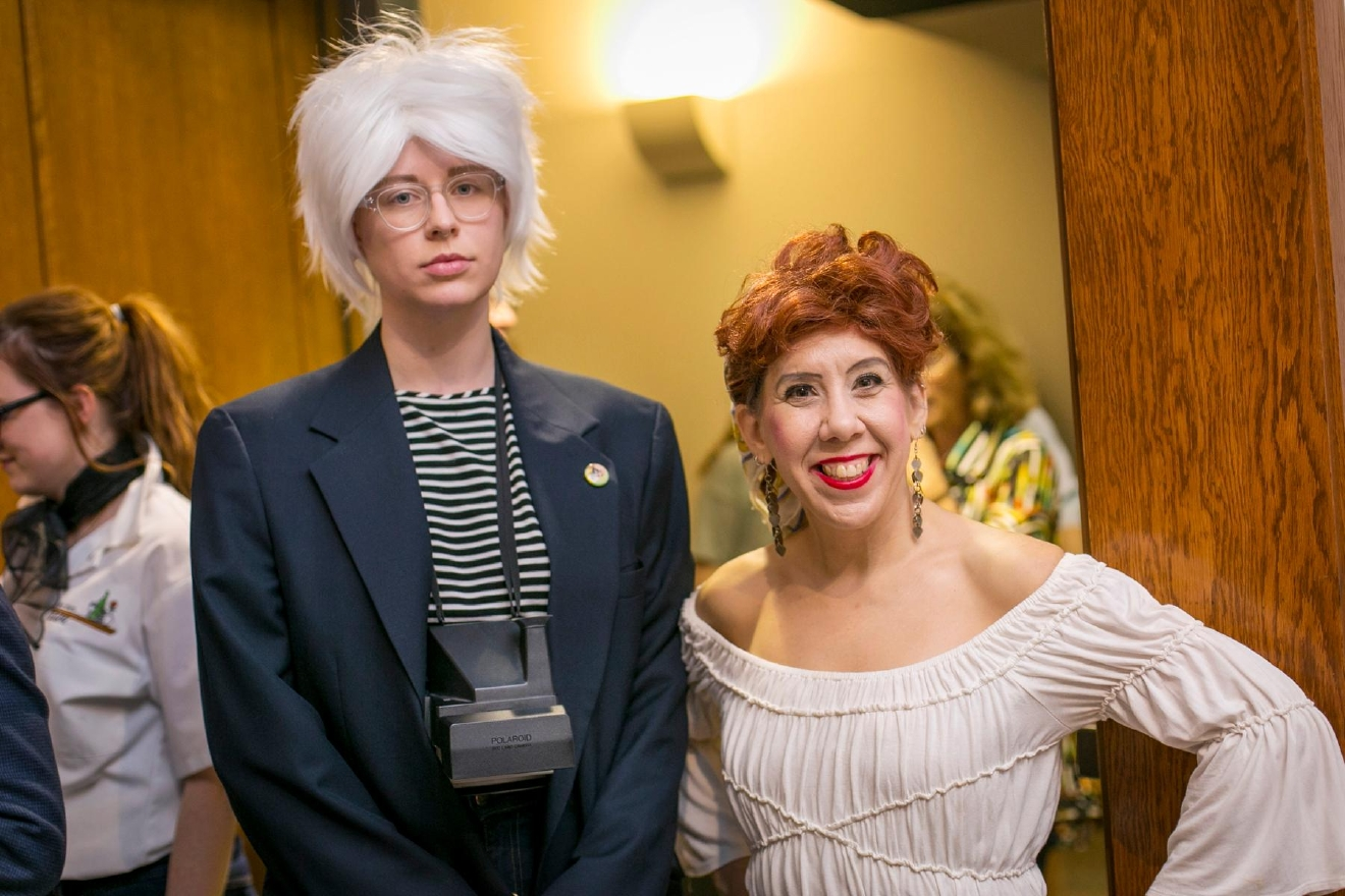 Andy Warhol and Lucy Ricardo / Image: Mike Bresnen Photography