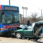 MTA bus, vehicle hit head-on
