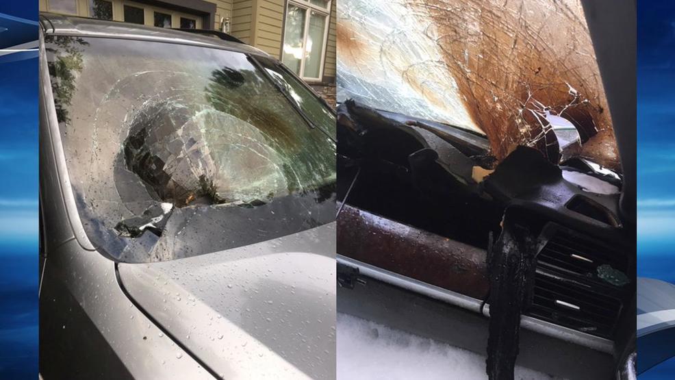 Lightning strike catches car on fire in Bend | KEPR