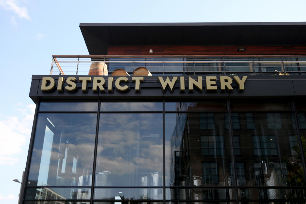 This newly opened space in Navy Yard will be the first winery to actually produce wine in D.C., though the grapes are sourced from Virginia, New York and Washington state; expect a dry rose next next spring as the first batch of DW wine produced in the District.  (Image: Amanda Andrade-Rhoades/ DC Refined)