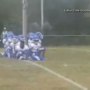Youth football team protests by kneeling during national anthem