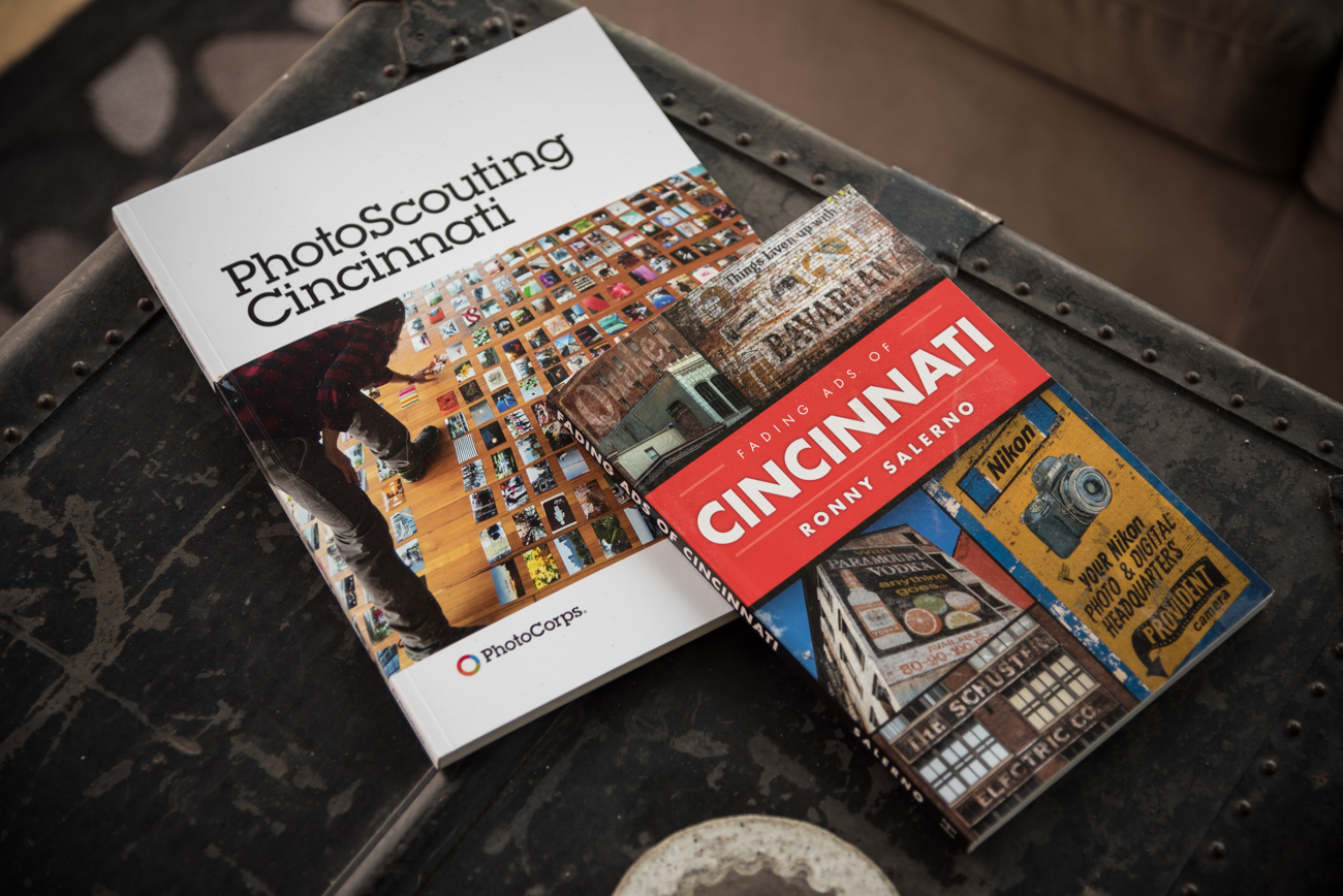 Erin Marie and Bob are avid supporters of local creatives. Chris Glass' PhotoCorps project and Ronny Salerno's Fading Ads of Cincinnati are among their coffee table reads. / Image: Phil Armstrong, Cincinnati Refined // Published: 4.16.17