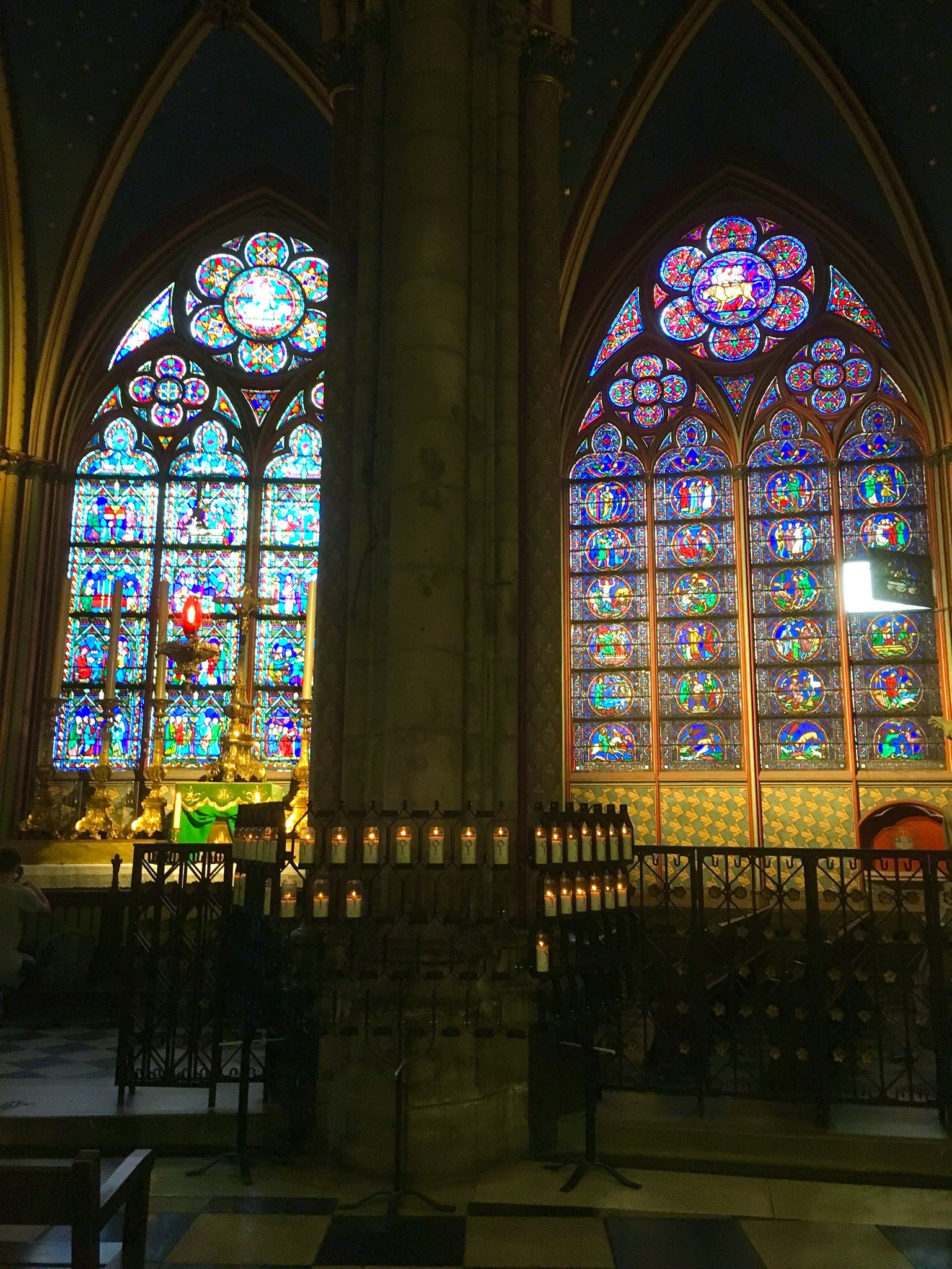 """Interior shot taken during my most recent trip to Paris in September 2018."" Locals shared their memories and photos of the historic Notre Dame on April 15, 2019 after hearing the gothic Parisian cathedral suffered serious damage after a fire.{ } (Image - Christina Arbini)"