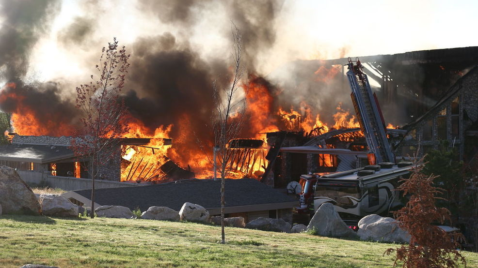 Fire burns up 33,000-square-foot home in Holladay   KUTV