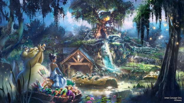 "Artist concept of what the new ""Princess and the Frog"" themed ride may look like. (Disney)"