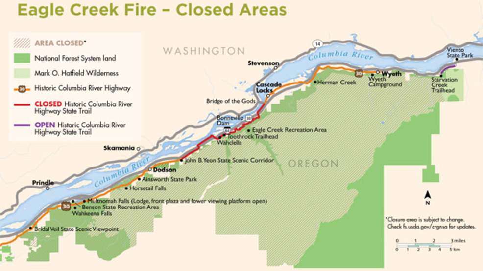 Oregon State Parks closes bike route on Oregon side of the Gorge for ...