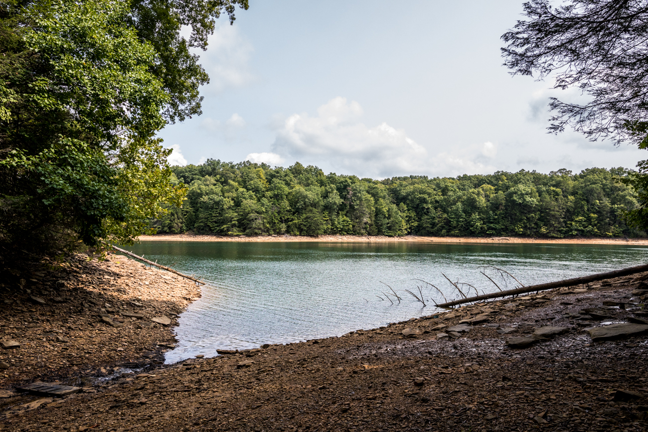 The beautifully forested campground sits among the foothills of the Appalachian Mountains. The site provides easy lake access with over 200 miles of shoreline. The man-made reservoir is a tributary of the Cumberland River and features a large dam and power plant. It's also one of the deepest and cleanest lakes in the state of Kentucky with a max depth of around 280 feet. The average depth is around 65 feet. / Image: Catherine Viox // Published: 10.13.20