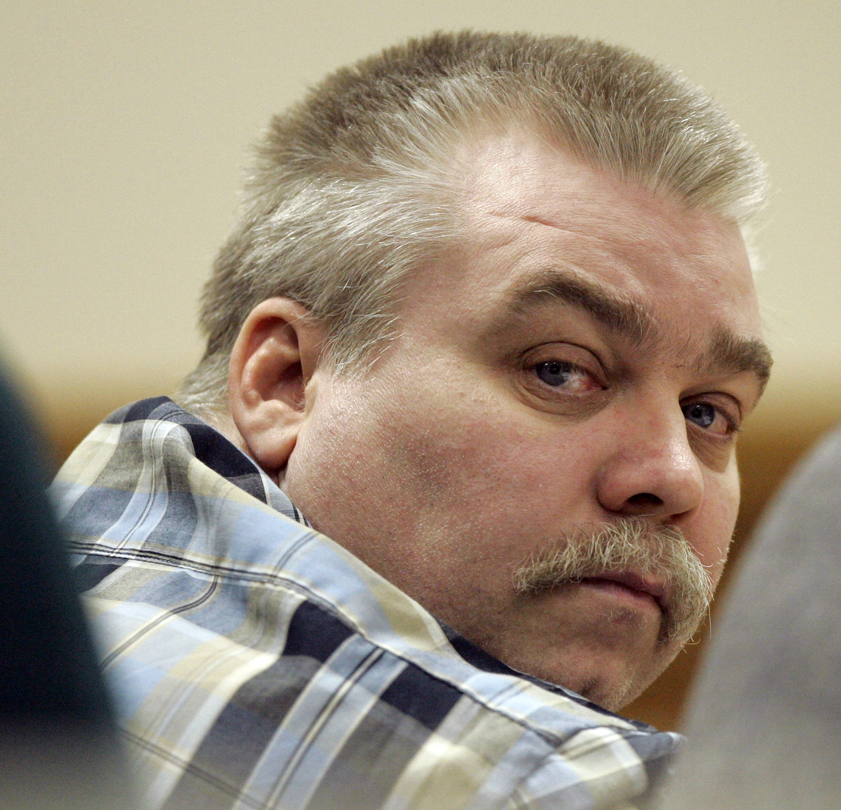 In this March 13, 2007 file photo, Steven Avery listens to testimony in the courtroom at the Calumet County Courthouse in Chilton, Wisc. (AP Photo/Morry Gash, File)
