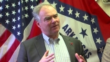 Democratic VP candidate Tim Kaine visits Arkansas
