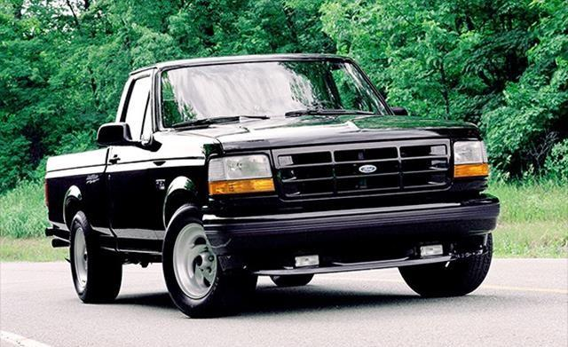 This was Ford's first factory-built high-performance sport truck. It had a 240 horsepower engine from the Ford Mustang Cobra.
