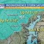 The Latest: Snow, sleet, and ice making its way to our area Saturday morning