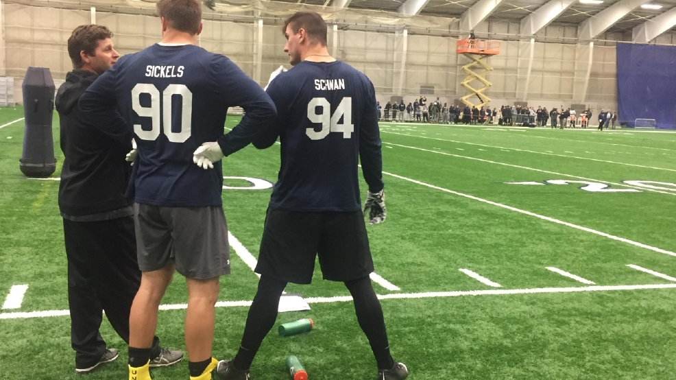 11 Participate In Penn State Football S 2017 Pro Day Wjac