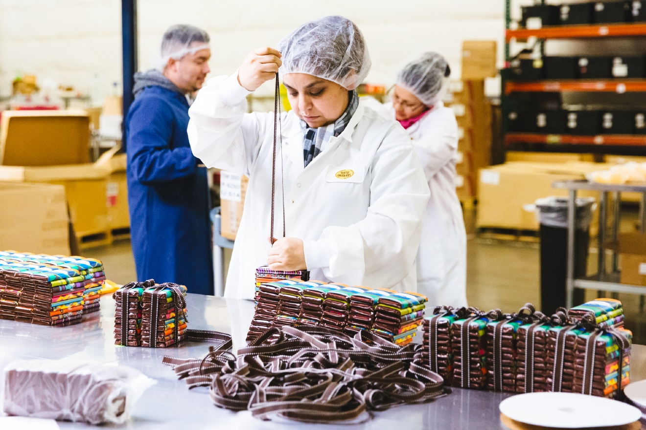 If you love chocolate in Seattle, then you know about Seattle's Chocolates. The 25-year-old  Tukwila-based chocolate company just announced a brand new 'Experience Chocolate' tour that's open to the public.  On the $10 tour, you'll learn about the history of cacao plant and the local company, immerse yourself in the busy working factory, AND duh - taste TONS of chocolate. The tour is in the Seattle Chocolates factory located at 1180 Andover Park West, more info at seattlechocolates.com. (Image: Sunita Martini / Seattle Refined)