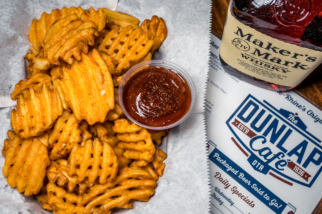 Waffle Fries with house-made boozy Makers Mark ketchup / Image: Catherine Viox // Published: 9.4.20