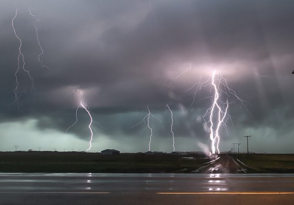 Tornadoes, severe thunderstorms, and hail reported across Arkansas Sunday evening. (Photo by Brian Emfinger/KATV)