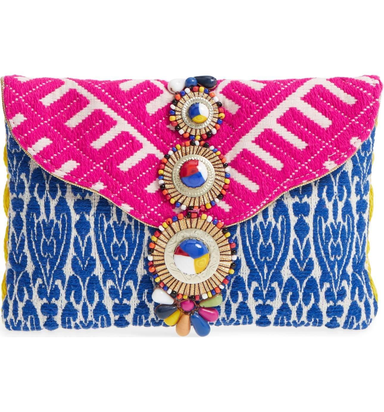 <p>This Steven by Steve Madden Beaded & Embroidered Clutch is a perfect way to spice up your outfit!{&nbsp;} It can make any bland top or dress stand out. $75.00 at Nordstrom. (Image: Nordstrom){&nbsp;}</p><p></p>
