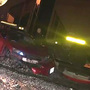 Suspected DUI driver takes off on foot after train hits his car