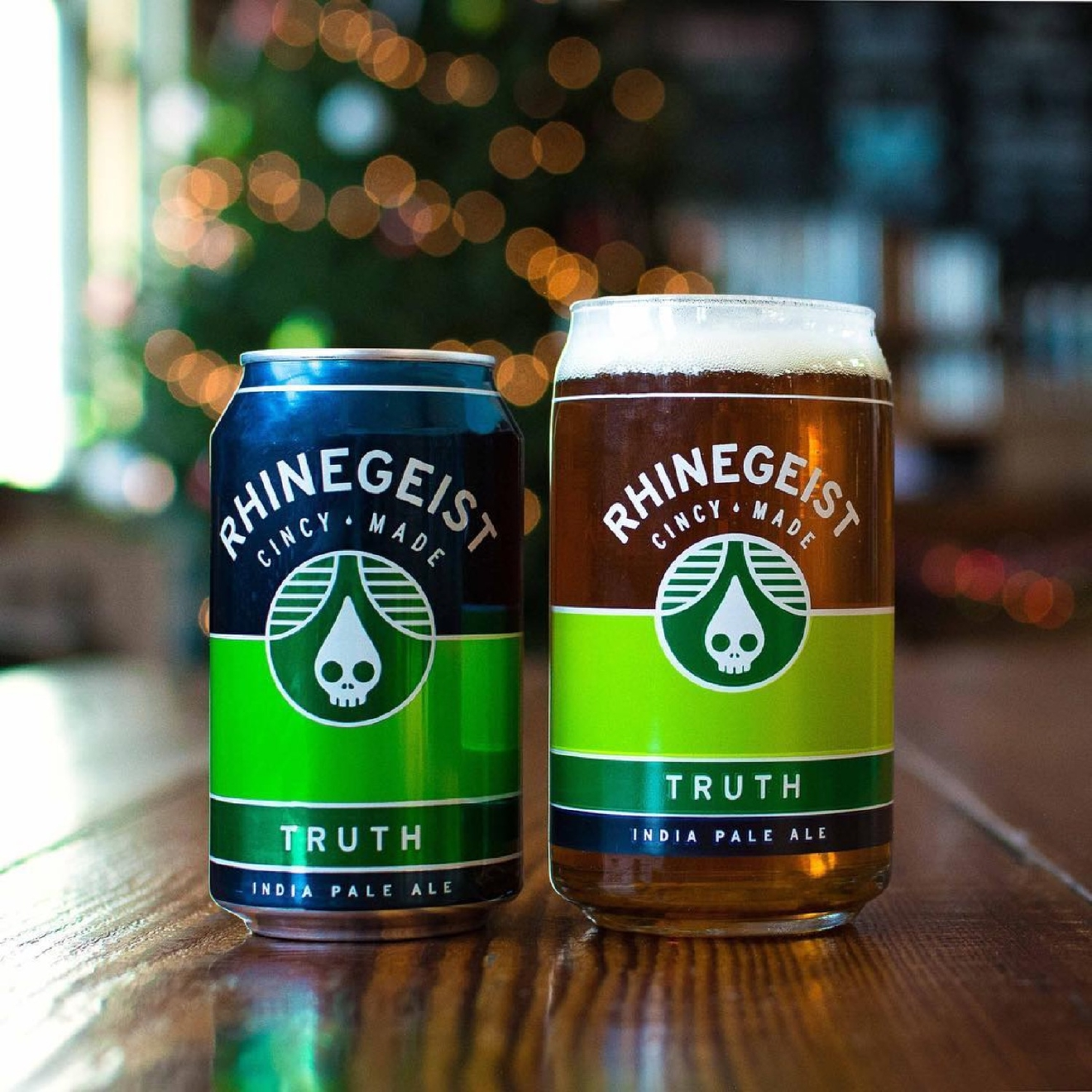 TRUTH by Rhinegeist Brewery / This hoppy IPA has citrus notes that'll mitigate the bitterness. / Image courtesy of Rhinegeist  Brewery  // Published: 1.10.17