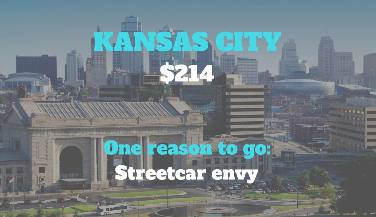 CITY: Kansas City / DISTANCE: 540 miles from Cincinnati / REASON TO GO: Okay, their streetcar is obviously not THE reason to go, but perhaps the latest? Love it or hate it, we have a streetcar. That's not up for debate. What IS debatable, however, is how much better it'd run if we adopted Kansas City's model. Enjoy what they're doing with their new rail. / Image courtesy of VisitKC // Published: 8.30.18