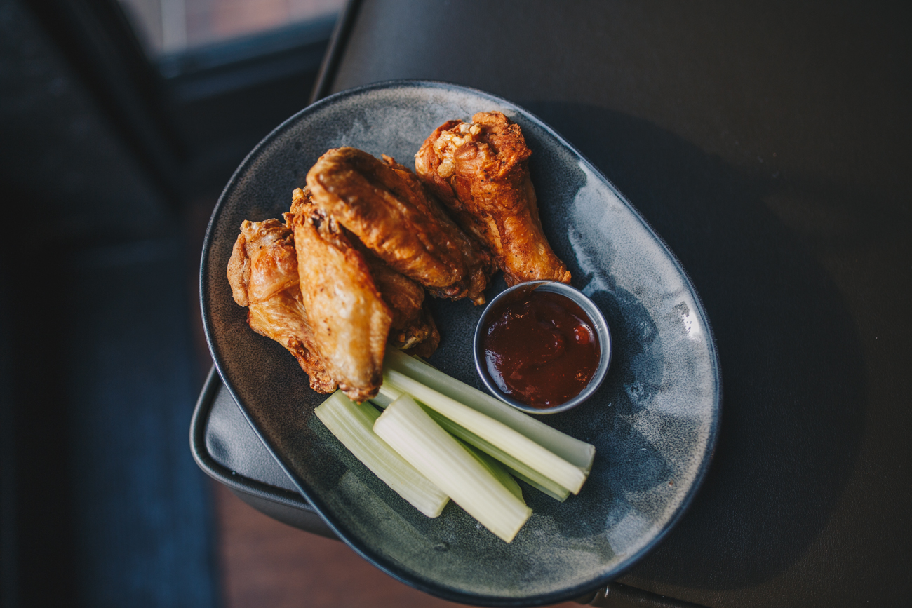 Smoked wings served with vodoo barbecue / Image: Catherine Viox // Published: 1.14.19